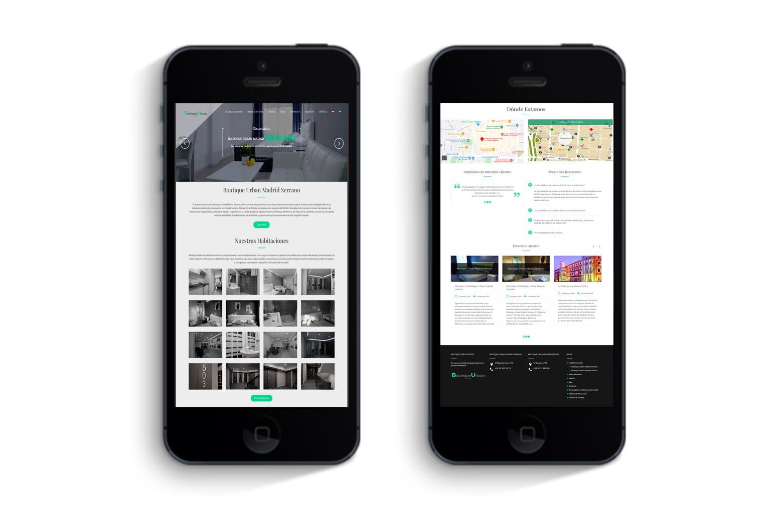 Diseño web Boutique Urban Hotels